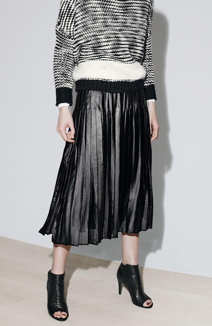 Trouvé Pleat Midi Skirt