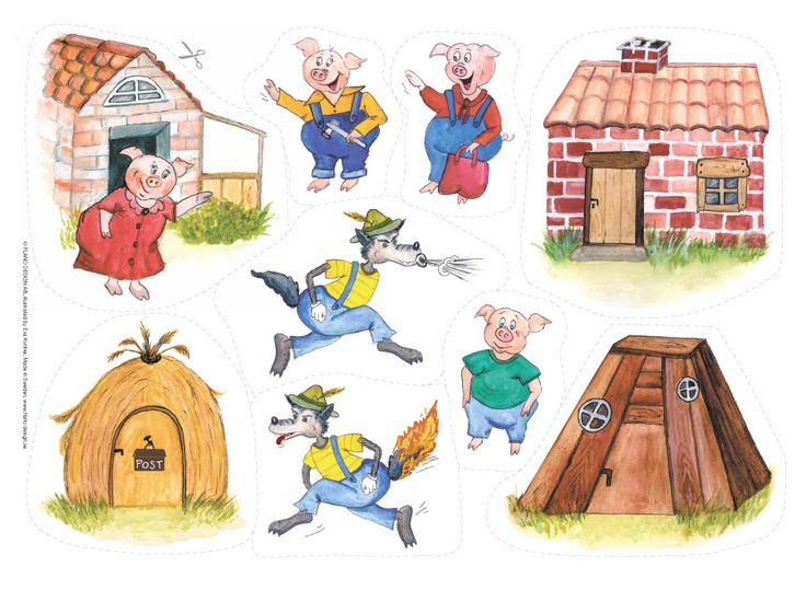 Underbar klassisk saga om de tre små grisarna som förföljs av vargen. Lek och lär på ett roligt stimulerande sätt med denna flanosaga!