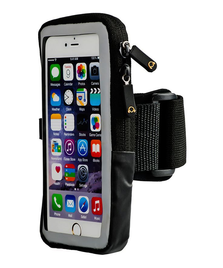Gear Black Slim Case Compatible Armband for Smartphones