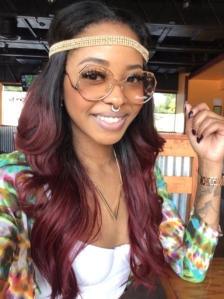 Ombre Remy Human Hair 1BBurgundy Body Wave H A I R