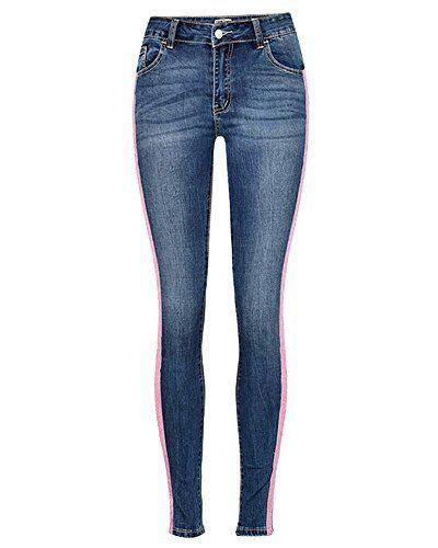 42bca6e170b Femme Leggings Skinny Taille Haute Crayon Pantalon Collants Push Up Denim  Pantalons Jeans comme Image 34