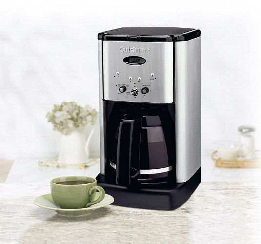 Cuisinart Brew Central DCC 1200 12 Cup Programmable Coffeemaker,  Black/Silver