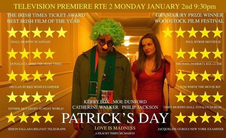 Looking for something to watch this Bank Holiday? Patrick's Day starring Waterford's own @moe_dunford hits your screens on RTE2 tonight at 9.30pm #PatricksDay #MoeDunford #Irish #Waterford