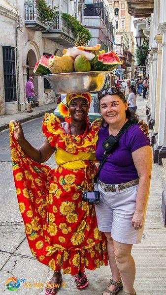 Cartagena - Fruit vendor with a warm smile.