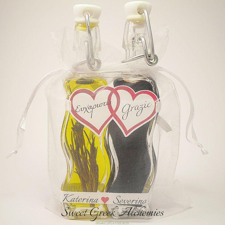 Greek Extra Virgin Olive Oil & Italian Balsamic Vinegar Wedding Favors