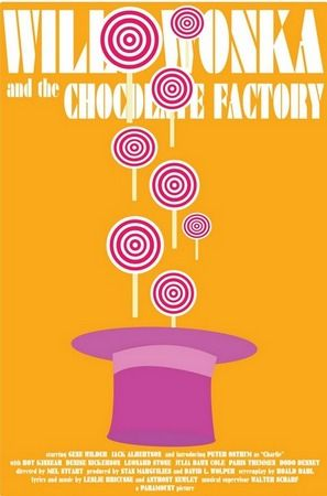 Willy Wonka and the Chocolate Factory.: Chocolate Factory, Chocolates Factories, Willis Wonka, Factories 1971, Movie Concerts Posters, Factories Posters, Alex Eylar, Minimal Movie Posters, Alex O'Loughlin