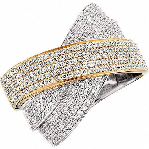 Amoro 18k White Gold Two-Toned Diamond Ring (1.32 cttw, H-I Color, SI1-SI Clarity)