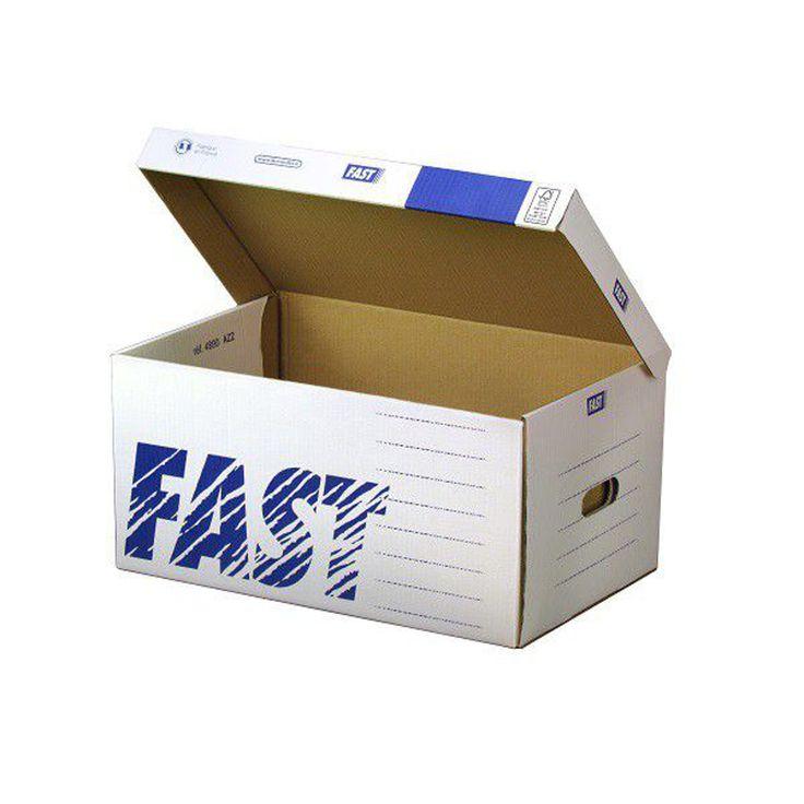 ATOUT CONTENANT предлагает архивные коробки из белого гофрокартона с синей печатью. Крышка у архивной коробки откидная, по длинной стороне. В торцевых стенках прорезаны ручки для переноски. Размер архивной коробки: 520×350×260 мм http://am.antech.ru/mTfk