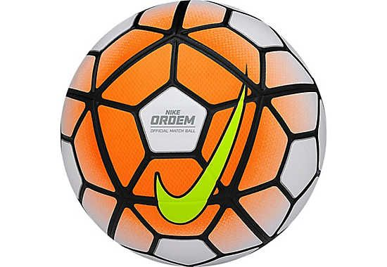 Nike Ordem 3 Match Soccer Ball - White and Orange
