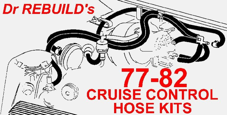 19781981 Corvette Cruise Control Ribbed Vacuum Hose Kit