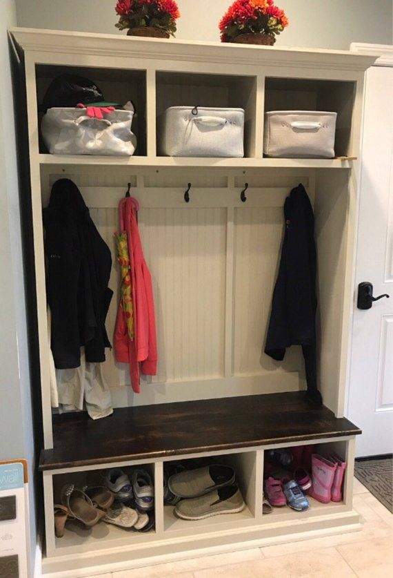 The Pennsylvania 2 Section Mudroom Bench Entryway Bench Storage Shoe Storage Bench Entryway Bench With Shoe Storage