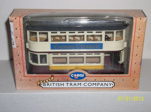 "Corgi ""British Tram Co"" ""Eve Chronicle"" Closed Top Double Decker Tram 97293 | eBay"