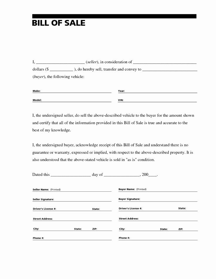 40 Car Sale Agreement Word Doc In 2020 Bill Of Sale Template