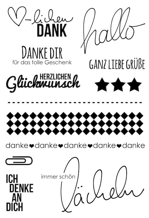 "#dpKartenstempel AddOn zum #dpJulikit15 von www.danipeuss.de | Klartext Stempel ""immer schön lächeln"""