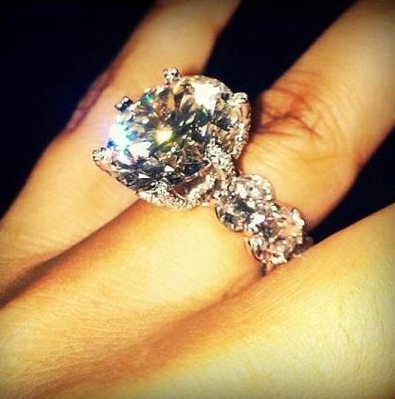 massive diamond engagement ring