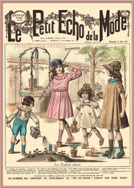 Les enfants jouent :Le Petit Echo de la Mode