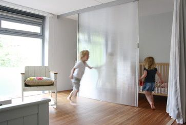 hanging sliding door - polycarbonate w steel frame