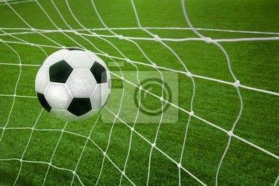 Wall Mural Goal A Soccer Ball In A Net Goal