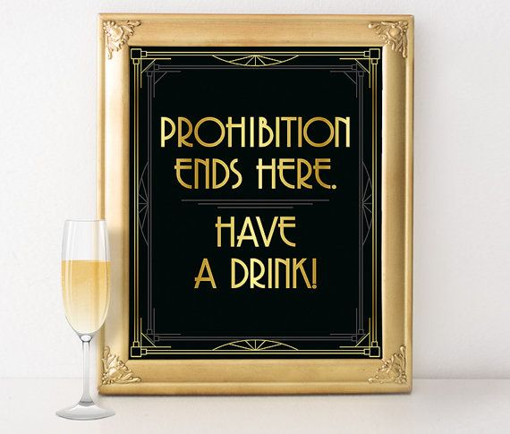 Roaring 20s party decorations  Prohibition ends by GoldMoonParty