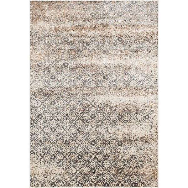 Alexander Home Kingsley Florette Rug (9u00272 x 12u00272) (Brown/ beige (9u00272 x  12u00272)) (Polyester, Abstract)