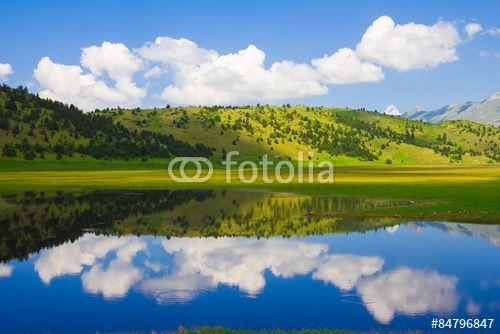 Photo of Filetto lake in Abruzzo - Italy. #Abruzzo #Park #GranSasso #Filetto #Lake #landscape #Nature #Wallpapers #Desktop #Italy #Mountains #Apennines