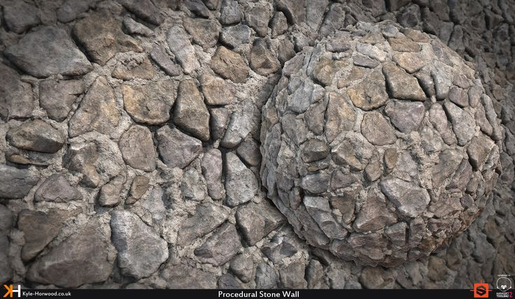 Procedural Stone Wall , Kyle Horwood on ArtStation at https://www.artstation.com/artwork/4qyr8