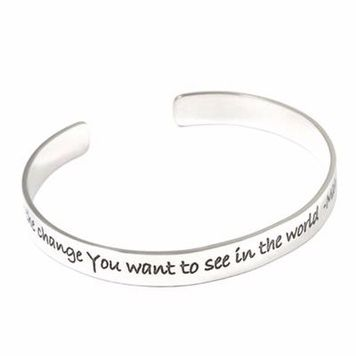 Poetic Pieces - SINGLE LINE CUFF BANGLE B1 -Sterling Silver