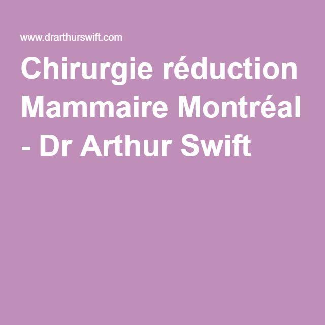 Chirurgie réduction Mammaire Montréal - Dr Arthur Swift