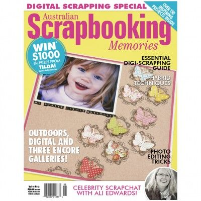 Australian Scrapbooking Memories – Volume15 No.2 ($1.95). Find out more at: http://www.patchworkandcraft.com.au/digital-magazines/australian-scrapbooking-memories-volume15-no-2.html