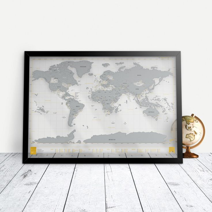 A clear edition Scratch Map® world map poster
