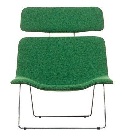 fauteuil spring vert/bouroullec/cappellini