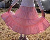 Chicas modestas niveles falda de campesina de la pradera - elija que su Color y tela tamaño 3-16