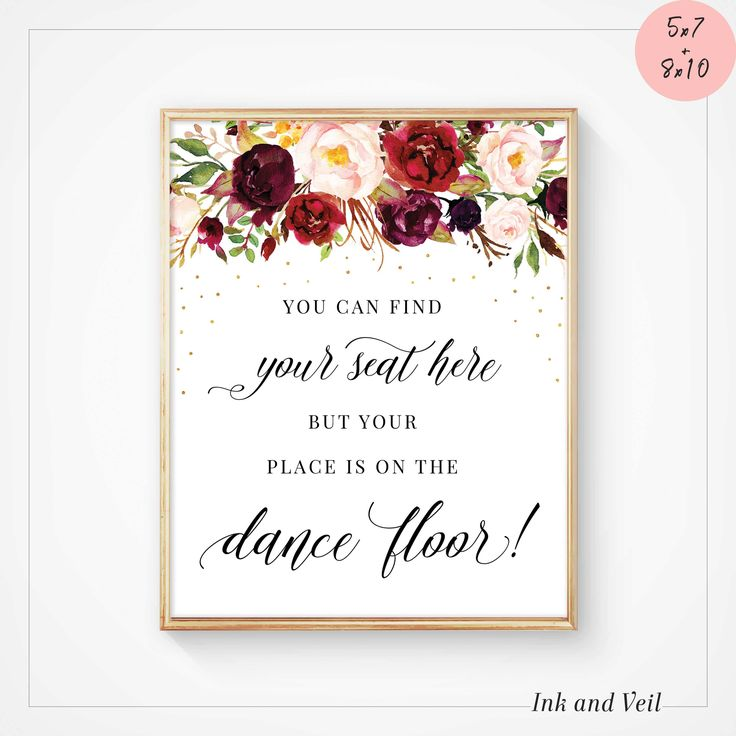 You can find your seat here sign Printable Wedding Signs