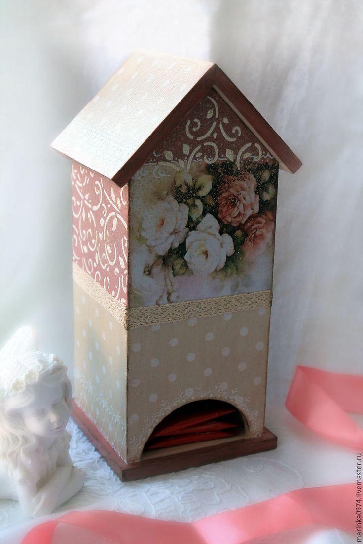 """Купить чайный домик """" Нежность чайной розы"""" - кремовый, розовый, розы, чайная роза"""