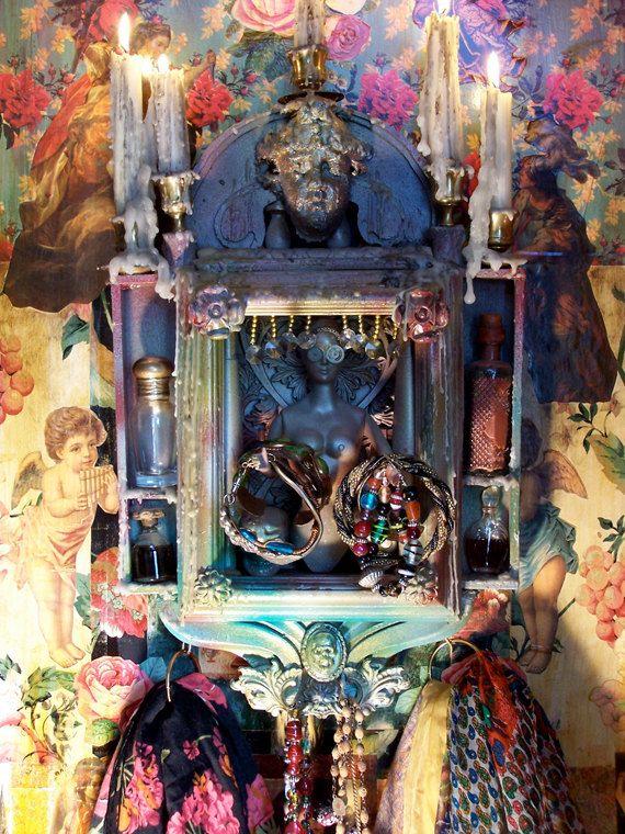 Bohemian Shrine and What Not Shelf