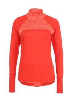 Лонгслив спортивный Nike, цвет: красный. Артикул: NI464EWFNI34. Женская одежда