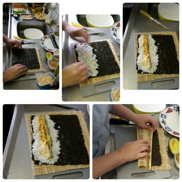 zelf sushi maken ....