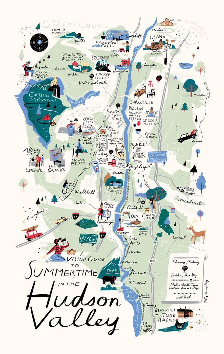 Map of the Hudson Valley - Libby VanderPloeg