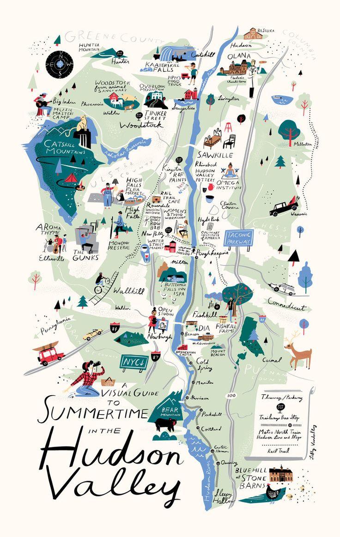 Map of the Hudson Valley - Libby VanderPloeg