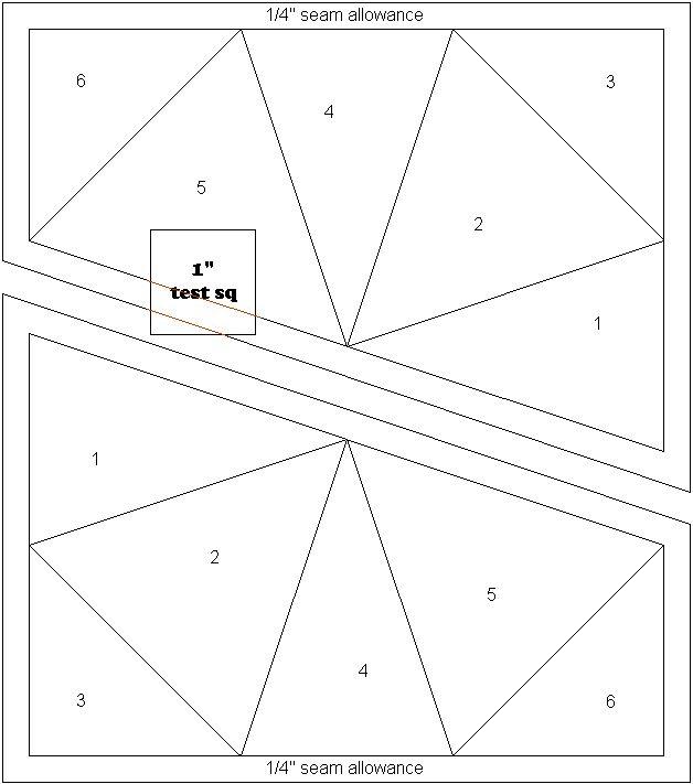 kaleidoscope block paper piecing pattern