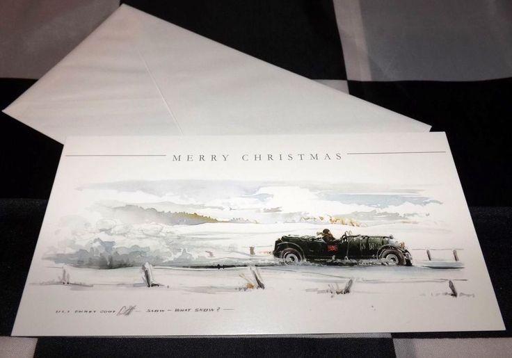 BENTLEY 4.5 LITRE BLOWER LE MANS ARTWORK PRINT CHRISTMAS GREETINGS GIFT CARD ULI
