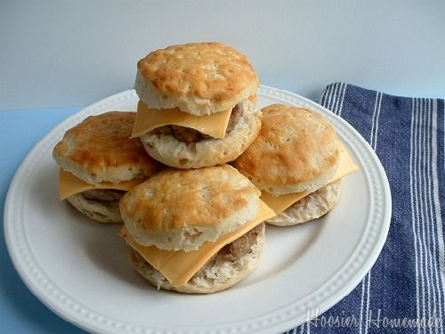 sausage breakfast sandwiches (and how to freeze them and then quickly reheat)