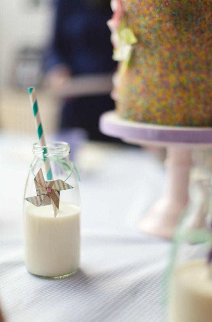 Kindergeburtstag mit einem Sweet Table zum Thema Windrad / Pinwheel DIY