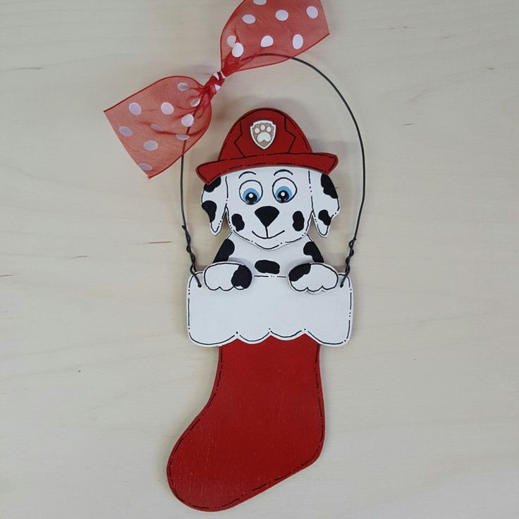 A personal favorite from my Etsy shop https://www.etsy.com/listing/477658043/marshall-paw-patrol-christmas-ornament