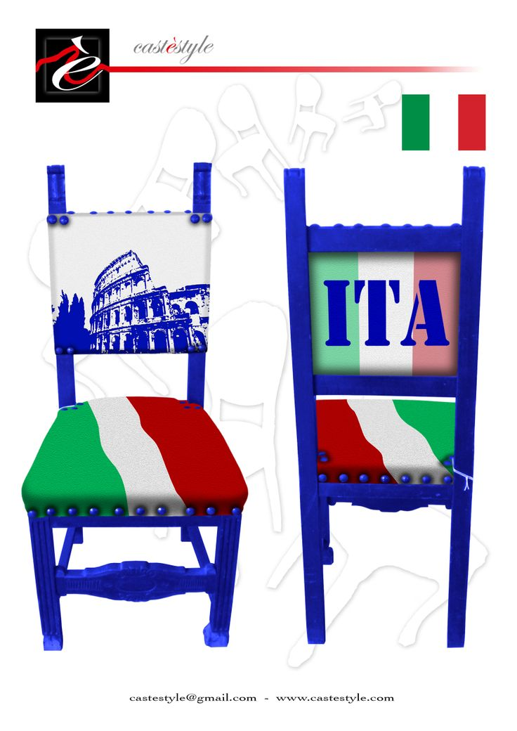 Arredamento Artistico Artigianale Made in Italy CASTèSTYLE . Contattaci subito per ordinare la  sedia personalizzata con la bandiera del tuo paese : castestyle@gmail.com