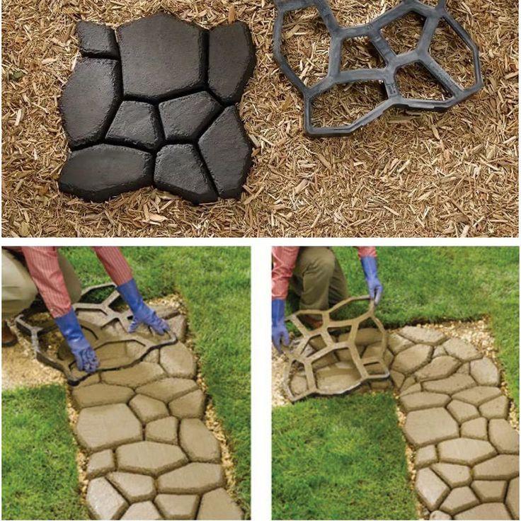 Driveway Pathmate Stone Mold Paving Concrete Stepping Stone Mould Pavement Paver