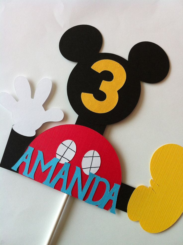 Mickey Mouse Clubhouse Cake Topper. $8.00, via Etsy.