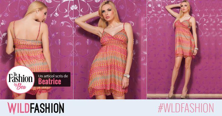 E timpul pentru rochite tot mai lejere si mai delicate, ca acest model perfect pentru vara.