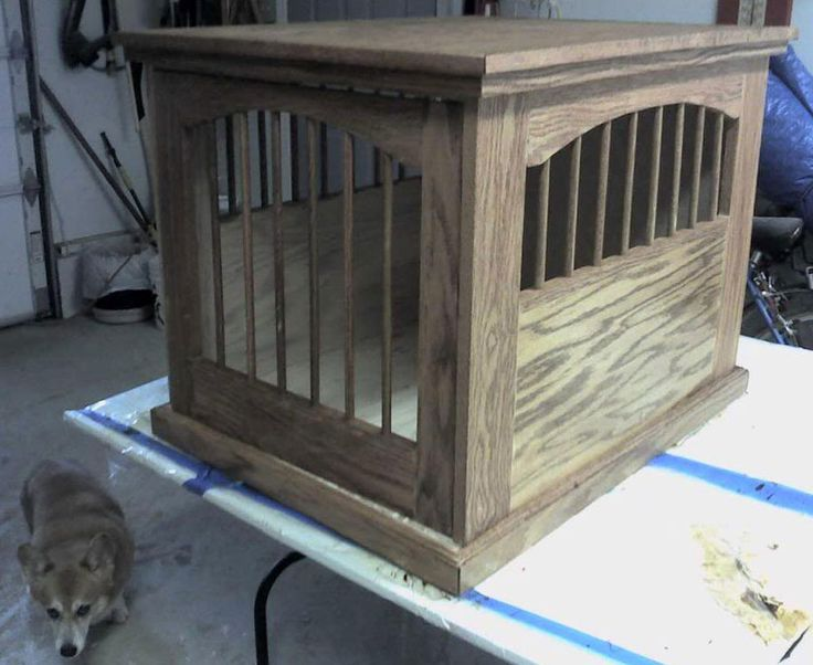 e1ece20409568d5a4c9c638d1cc68f4b--dog-crate-end-table-dog-crate-diy