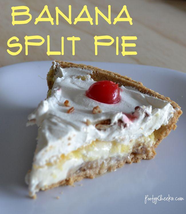 Banana Split Pie - #dessert #summer #pie